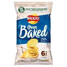 Walkers Oven Baked Cheese and Onion Multipack